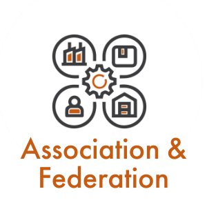 Association and federation icon