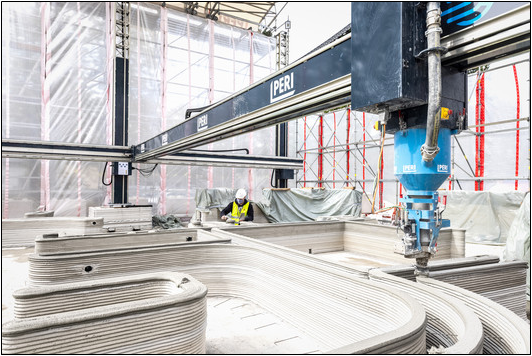 3D Printing for Residential is Market-Ready: Germany's First Building is Under Construction,Courtesy of PERI